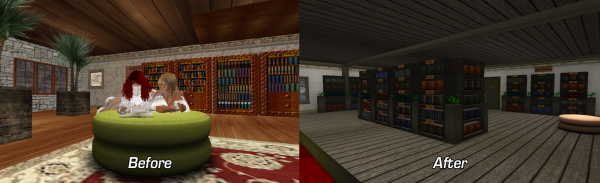 Inside Library - Before and After